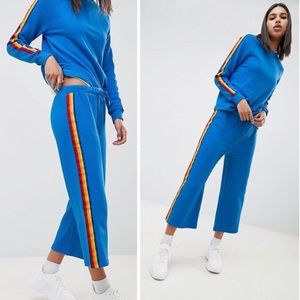 ASOS Blue Joggers Cropped Sweatpants Noisy May